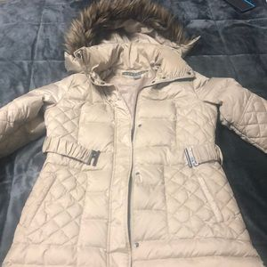 Kenneth Cole Faux Fur Down Puffer Jacket SZ Large